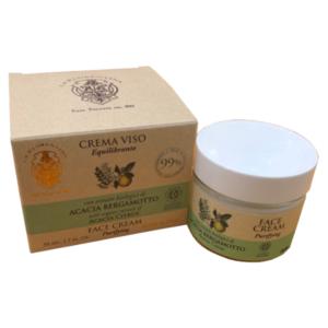 Crema Viso Equilibrante 50 ml La Florentina Acacia e Bergamotto